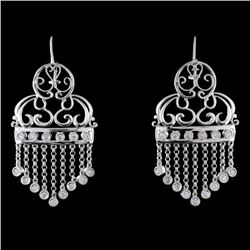 18K White Gold 0.51ct Diamond Earrings