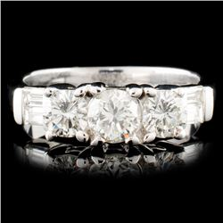 18K Gold 1.01ctw Diamond Ring