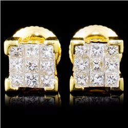18K Gold 0.50ctw Diamond Earrings
