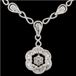 14K Gold 3.69ctw Diamond Necklace