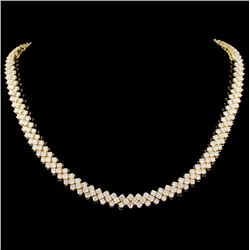 18K Gold 30.00ctw Diamond Necklace