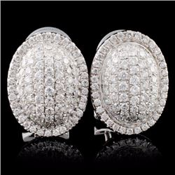 18K White Gold 1.17ct Diamond Earrings