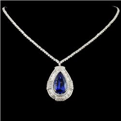 18K Gold 9.76ct Tanzanite & 5.09ctw Diamond Neckla