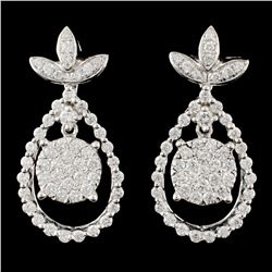 14K Gold 1.66ctw Diamond Earrings