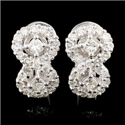 18K Gold 1.63ctw Diamond Earrings