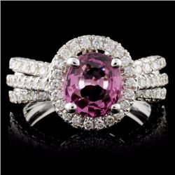 18K White Gold 1.77ct Spinel & 1.29ct Diamond Ring