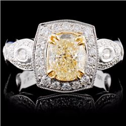 18K White Gold 2.14ctw Fancy Diamond Ring