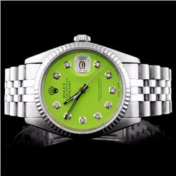 Rolex Stainless Steel DateJust Men's Wristwatch