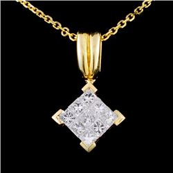 18K Gold 0.50ctw Diamond Pendant