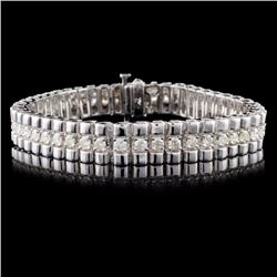 14K White Gold 4.00ctw Diamond Bracelet