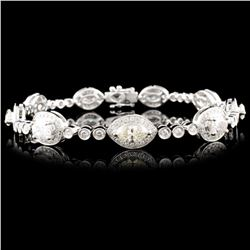 18K Gold 5.29ctw Diamond Bracelet