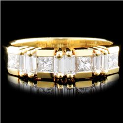 18K Gold 0.70ctw Diamond Ring