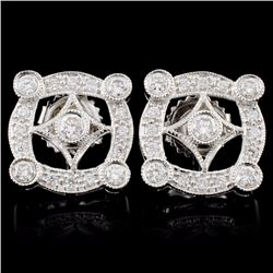 18K Gold 0.71ctw Diamond Earrings