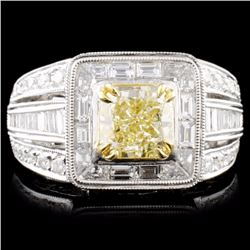 18K Gold 2.85ctw Fancy Diamond Ring