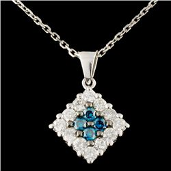 14K Gold 0.63ctw Fancy Color Diamond Pendant
