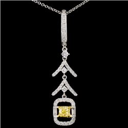 18K Gold 0.71ctw Fancy Diamond Pendant