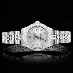 Rolex SS DateJust 1.00ct Diamond Ladies Watch