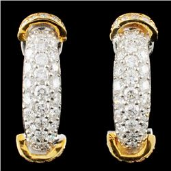 18K Gold 1.41ctw Diamond Earrings