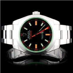 Rolex Milgauss 40MM Stainless Steel Wristwatch