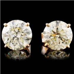 14K Gold 4.42ctw Diamond Stud Earrings