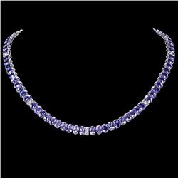 `14k Gold 54ct Tanzanite 2ct Diamond Necklace
