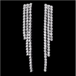 18K White Gold 2.36ctw Diamond Earrings