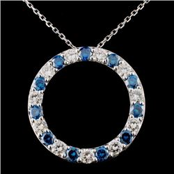 18K White Gold 2.42ctw Fancy Color Diamond Pendant