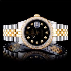 Rolex YG/SS DateJust 1.50CT Diamond Wristwatch