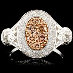 14K Gold 1.06ctw Fancy Color Diamond Ring
