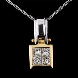 14K Gold 0.46ctw Diamond Pendant