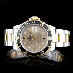 Rolex Two-Tone Submariner Diamond Men's Watch