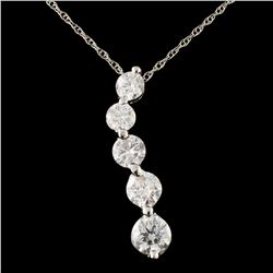 14K Gold 1.60ctw Diamond Pendant