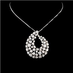 14K Gold 4.80ctw Diamond Pendant