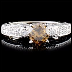 18K Gold 2.09ctw Fancy Color Diamond Ring