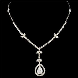 18K White Gold 2.65ctw Diamond Necklace