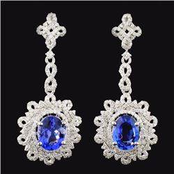 18K White Gold 4.62ct Tanzanite & 1.65ct Diamond E