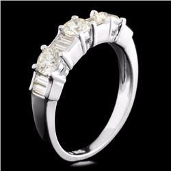 18K Gold 0.95ctw Diamond Ring