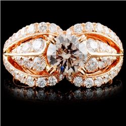 18K Gold 2.20ctw Fancy Color Diamond Ring