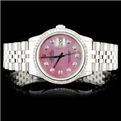 Rolex SS DateJust 3.00ct Diamond Wristwatch
