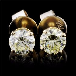 14K Yellow Gold 1.02ct Diamond Earrings