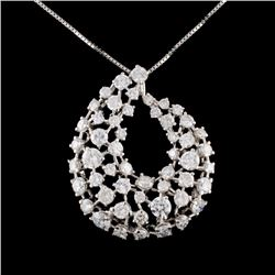 14K White Gold 4.80ctw Diamond Necklace