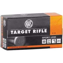 10 BOXES RWS 22LR TARGET RIFLE AMMO (500 ROUNDS). 4000294132476