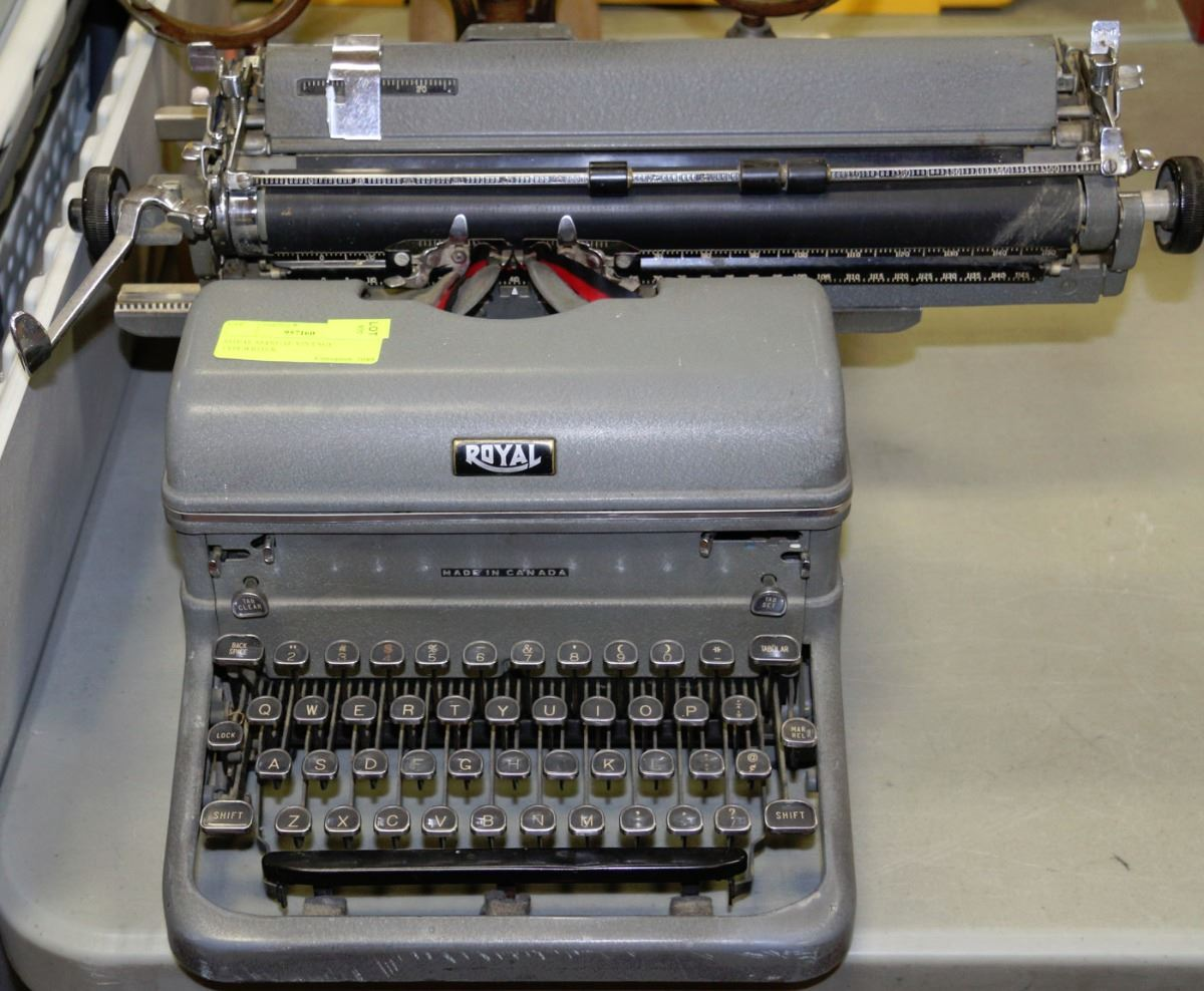 royal manual typewriter for sale