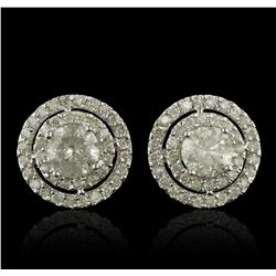14KT White Gold 2.88ctw Diamond Earrings