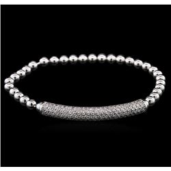 1.27ctw Diamond Bracelet - 14KT White Gold
