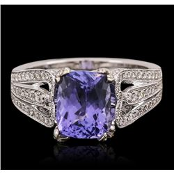 18KT White Gold 2.42ct Tanzanite and Diamond Ring