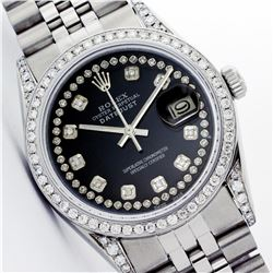 Rolex Stainless Steel 1.20ctw Diamond DateJust Men's Watch