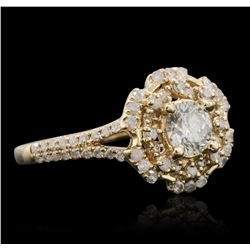 14KT Yellow Gold 0.91ctw Diamond Ring