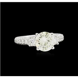 EGL USA Cert 3.25ctw Diamond Ring - 18KT White Gold