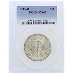 1945-D PCGS MS65 Liberty Walking Half Dollar